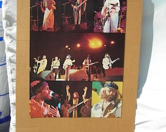 "Vintage 1970""s Beach Boys Band Poster 33""x23"" Hippie"