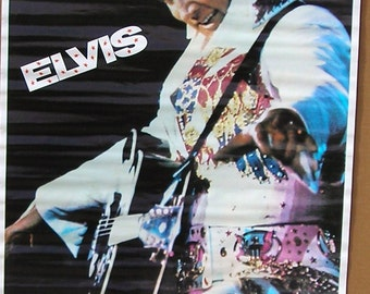 Vintage 1972 Elvis Presley Poster The King Rock & Roll