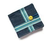 Upcycled Denim Wallet - billfold wallet - money wallet- UK Seller