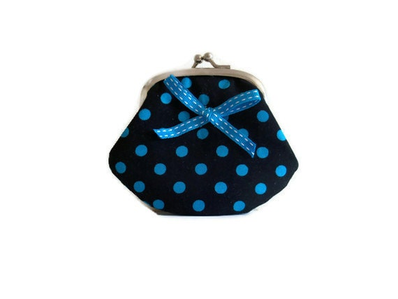 Fabric Coin Purse with ribbon detail