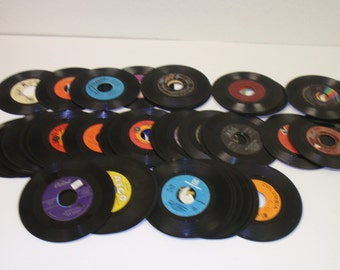 "Used 7"" 45 RPM Records For Crafting, Crafting LOT of (10) vinyl jukebox records"