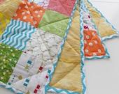 Baby Quilt Crib Quilt Boys Quilt Girls Quilt Bright Patchwork