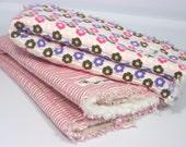 Baby Girl Rag Burp Cloth