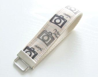 Key Fob Keychain Fabric Wristlet