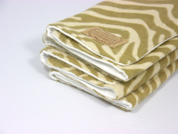 Animal Print Flannel Baby Boy or Girl Burp Cloth Baby Shower Gift Set of Two