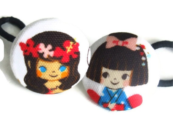 Ponytail Holder Hair Tie Kawaii Accessory