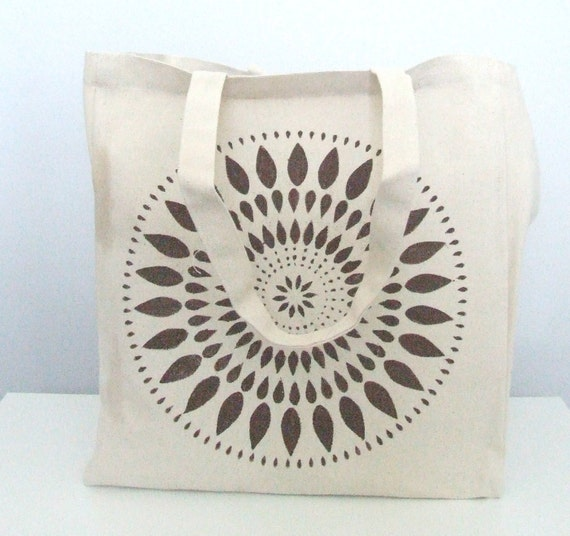 Canvas Tote - Reusable Grocery Bag - Beach Bag - Large Bag