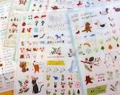 6 Sheets Korea Pretty Sticker Set - Deco Translucent Sticker SetFrom JolinTsai