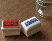 Rubber Stamp- Korea DIY Ceramics Stamp Diary Stamp Set---Lace