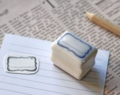 Rubber Stamp- Korea DIY Ceramics Stamp Diary Stamp Set---Label