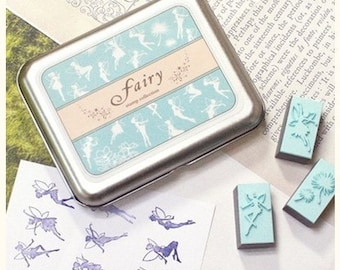 9 kinds of South Korea DIY Woodiness rubber stamp- fairy