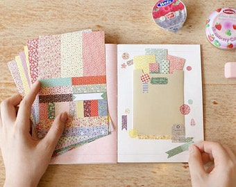 8 Sheets Korea Vintage Sticker Set - Paper Sticker Set - Polaroid Deco Sticker