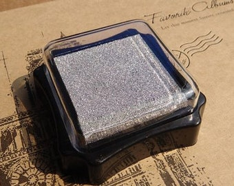 Ink-pad - Silver - made of environment-friendly water-based pigment