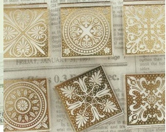 1Pcs Korea DIY Crystal Square Stamp - Pattern 6 Kinds Can Chosen