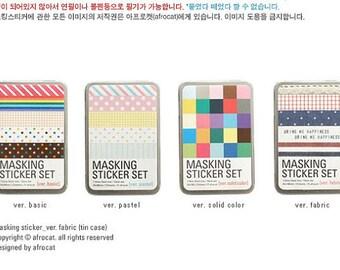 4 Iron Box Masking Tape Korea Pretty Sticker Set - Paper Deco Sticker Set -Colorful Paper Tape