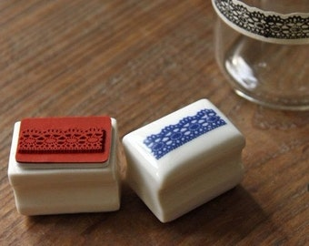 Rubber Stamp- Korea DIY Ceramics Stamp Diary Stamp Set---Lace