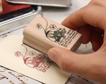 Korea DIY Woodiness rubber stamp-DIY Tin Box Stamp Set- Dorothy Series 3