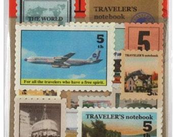 4 Sheets Korea Vintage Paper Deco Sticker Stamp