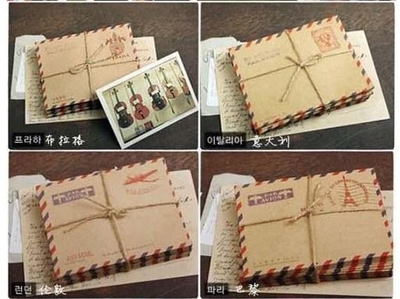 40 Sheets Pure Color Kraft Paper The MiNi Ancient Envelopes Sets