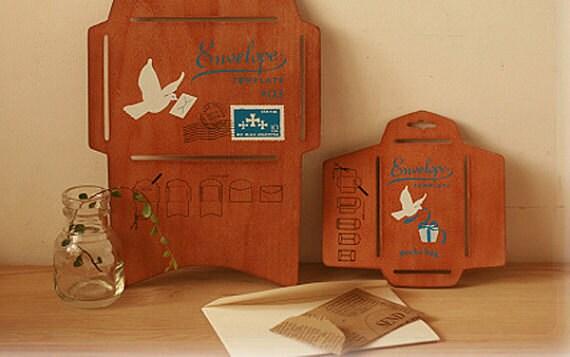 Japanese Wood Envelope Template Antique Wooden DIY Envelope Set (((Small And Big Size)))