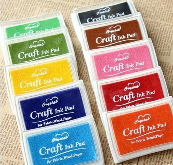 Craft Ink Pad Set 11 Pcs Korea Stamps Partner Diy Tools Color -- For Febric, Wood, Paper