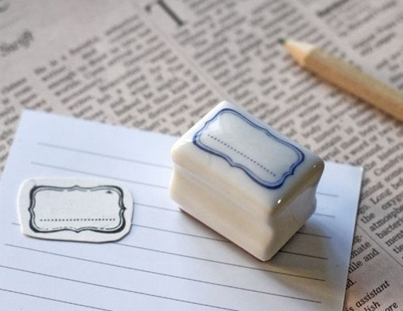 Rubber Stamp- Korea DIY Ceramics Stamp Diary Stamp Set---Label