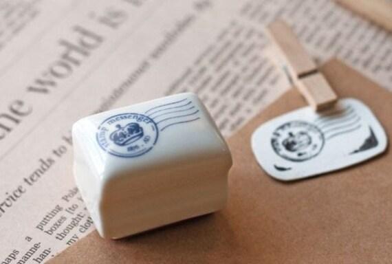 Rubber Stamp- Korea DIY Ceramics Stamp Diary Stamp Set---Postmark