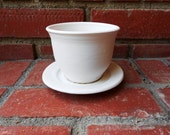 Sweet Marshmallow White Tea Cup and Saucer Set