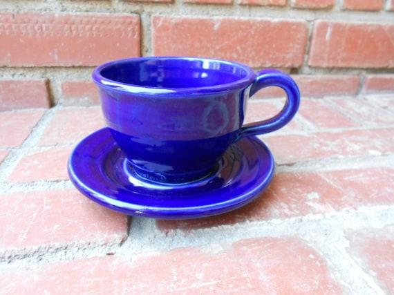 Darling Cobalt Blue Tea Cup and Saucer Set