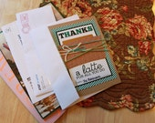 Thanks-a-Latte Card (gift card holder)