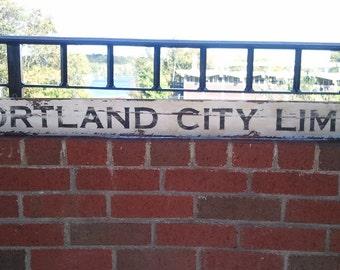 Old Roadsign - PORTLAND CITY LIMITS