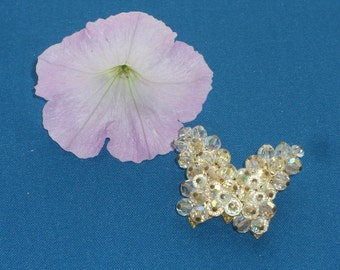 Brooch - Butterfly - Crystals - Vintage