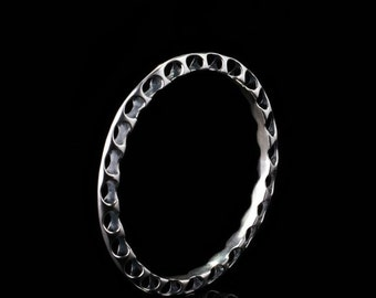 Sterling Silver Spinal Bangle