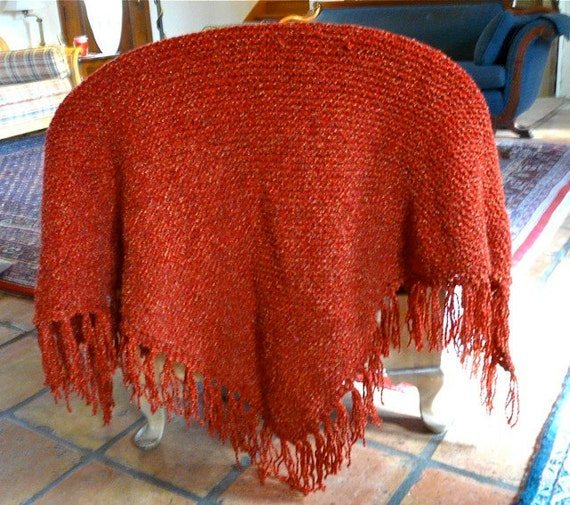 Red and Gold Tweed Prayer Shawl