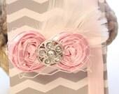 Pink Headband & Alligator Clip . Little Mamas