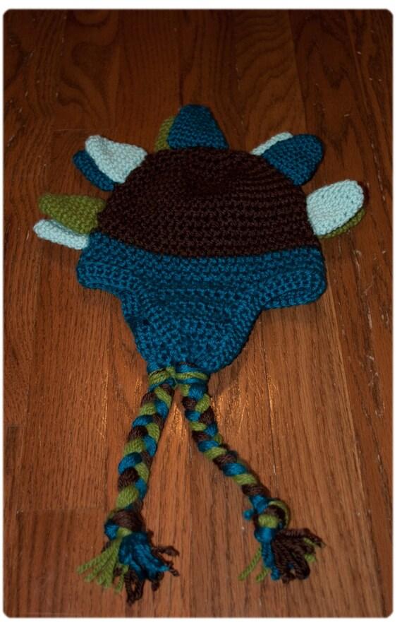Dinosaur Earflap Hat- Newborn to Adult
