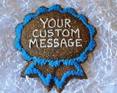 Local WA Pick Up Medium Personalized Horse Treat - Blue Ribbon