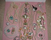 Destash Craft Lot of Vintage Pearl Jewelry For Crafting Treasures
