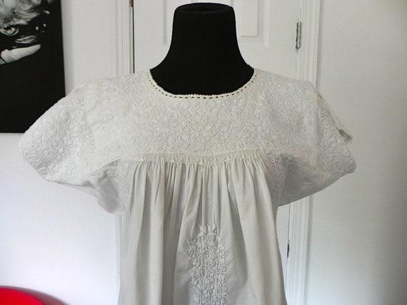 Vintage White Pullover  Dress