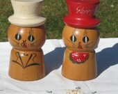 1940s Japan Salt and Pepper Shakers Cat Peppy and Salty