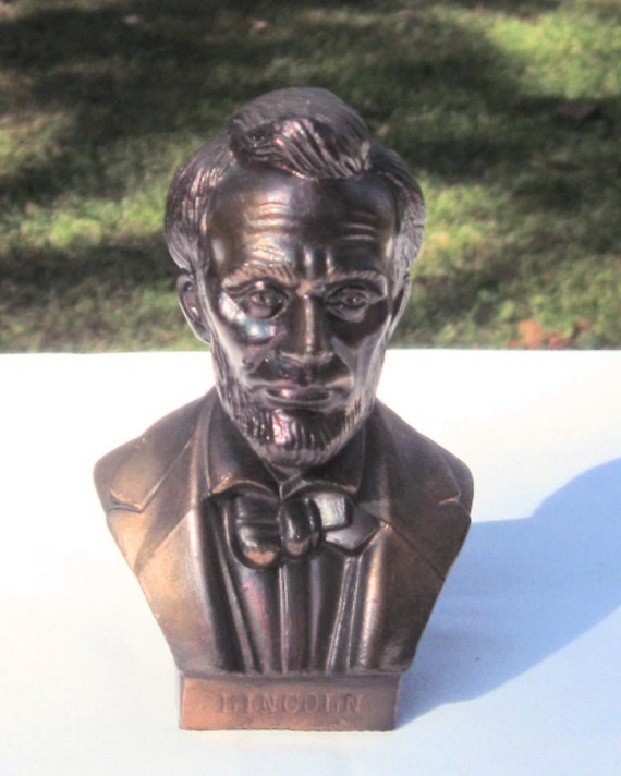 Lincoln Copper Plated Bust Gettysburg, PA Souvenir