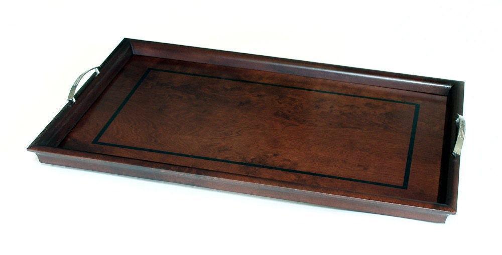 Ottoman tray serving w handles
