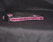 Pink Rose sparkle adjustable collar or martingale