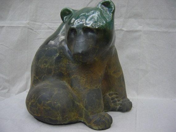 Vintage Original Studio Pottery Art  Bear Sculpture