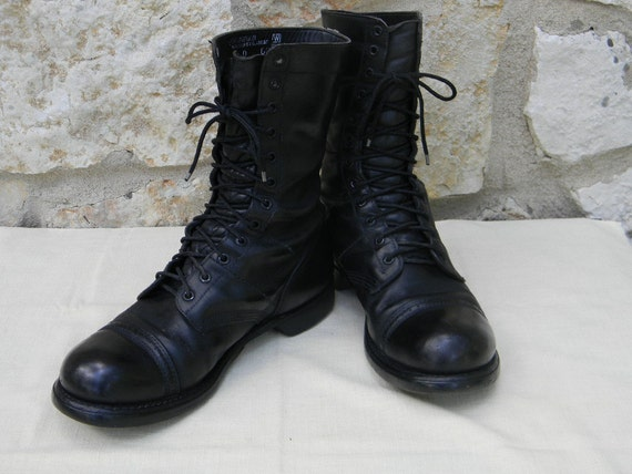Vintage Military Combat Boots Men size 10D Corcoran USA Black