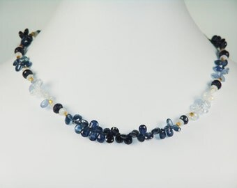 Pale To Deep Blue Iolite  Necklace