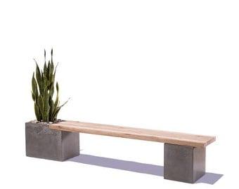 Concrete / Wood Planter Bench