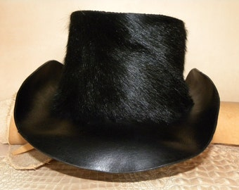 Goat Hair -Calf Skin And Leather Outback Hat
