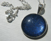 Midnight Galaxy 25mm bronze or silver necklace