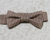 Brown & Tan Dot Bow Tie- Great Photo Prop for Newborn/Infant/Toddler, Cute for Weddings